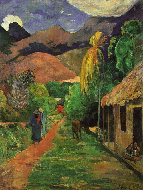 Mystudios Paul Gauguin Street In Tahiti