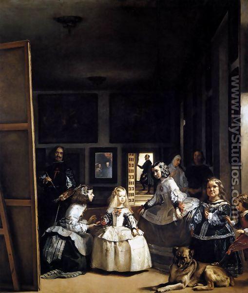Las Meninas or The Family of Philip IV 1656-57 - Diego Rodriguez de Silva y Velazquez