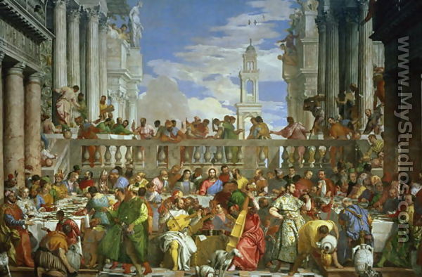 The Marriage Feast at Cana, c.1562 by Paolo Veronese ...
