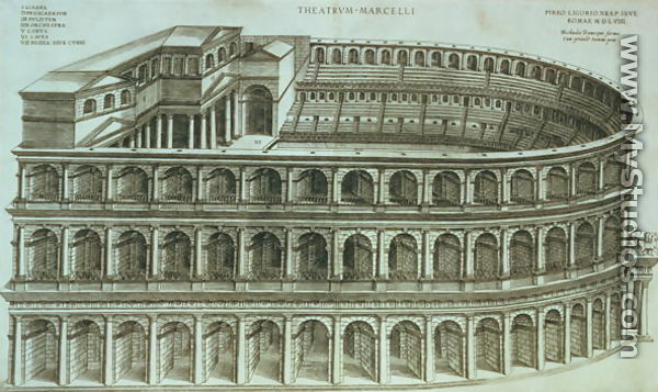 Plan of the Theatre of Marcellus, Rome, 1558 by Michael ...