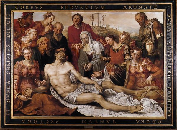 Lamentation on the Dead Christ 1566 - Maerten van Heemskerck
